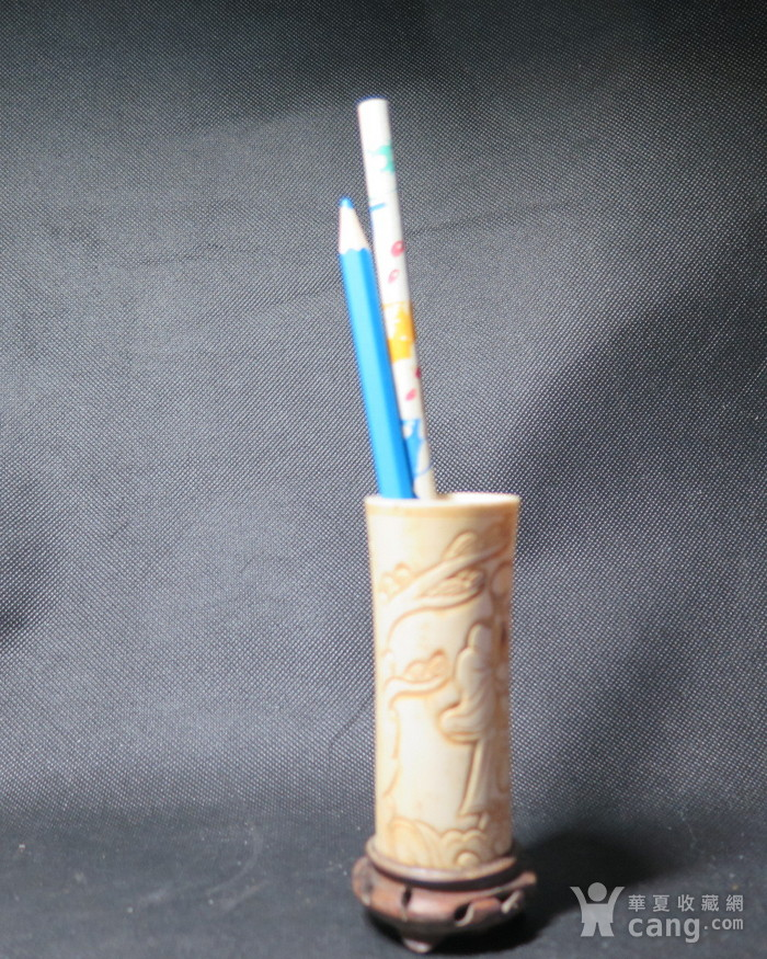 民国贵重材质小笔筒图1
