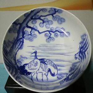 民国日本青花松鹤纹大碗