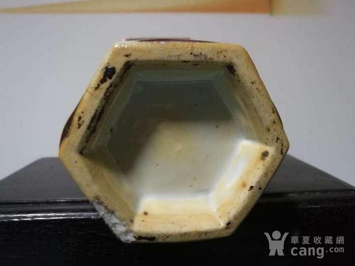 清晚期窑变釉六角瓶图4