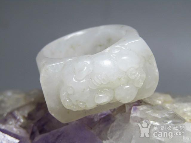 和田白玉 貔貅 马镫戒指 玉质熟润图2