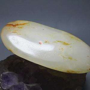和田洒金皮 籽玉 原石 玉质细腻