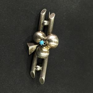 8116欧洲手工银嵌绿松胸针