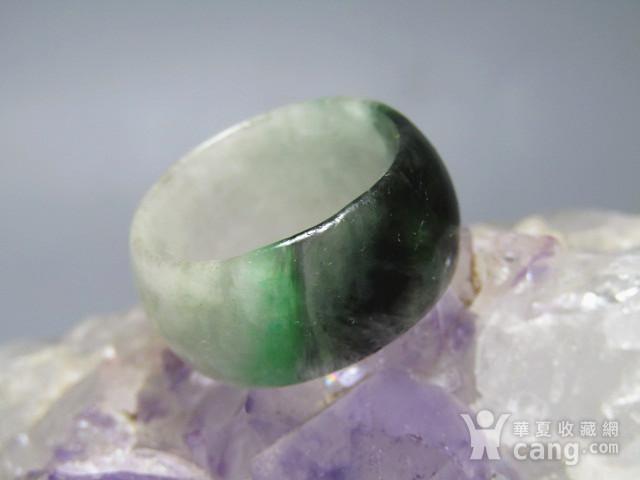 老坑 翡翠 阳绿戒指 指环图2
