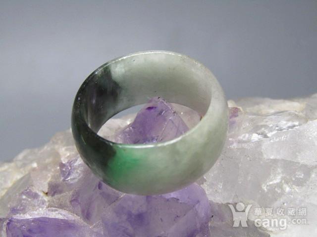 老坑 翡翠 阳绿戒指 指环图3