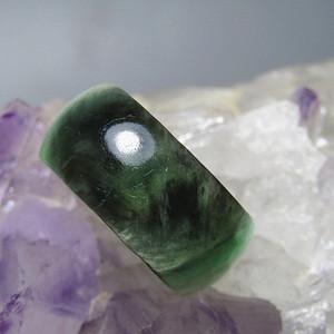 老坑 翡翠 阳绿戒指 指环