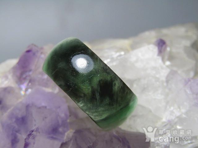 老坑 翡翠 阳绿戒指 指环图1