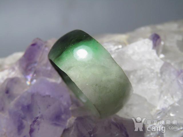 老坑 翡翠 阳绿戒指 指环图7