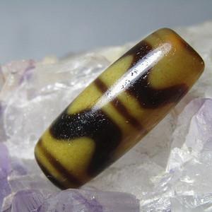 藏传 玛瑙水纹 天珠 包浆熟润