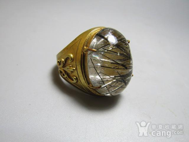 回流 水晶带发晶 男款戒指图6