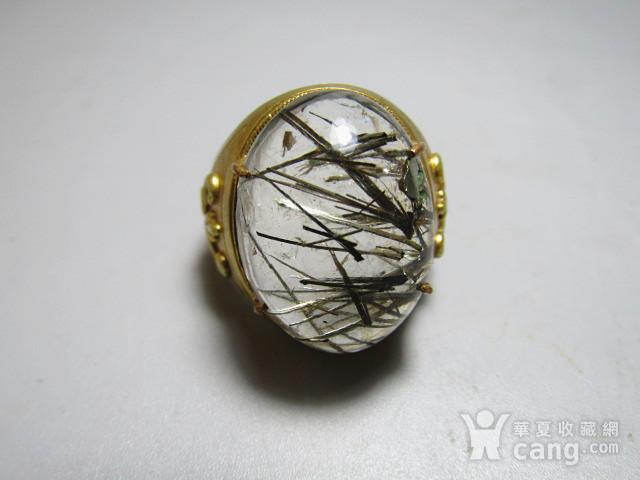 回流 水晶带发晶 男款戒指图7