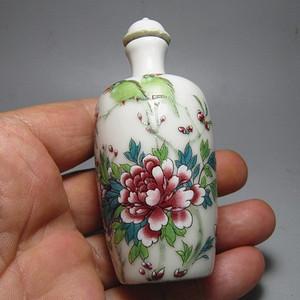 手绘 花开富贵 陶瓷鼻烟壶 画工精美