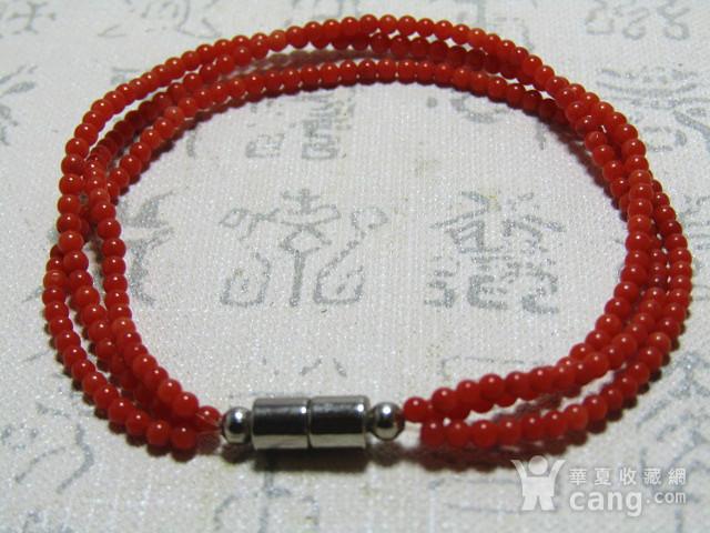 天然 阿卡红珊瑚 三圈女款手串图8