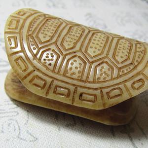 骨 龟背云 工艺非常好 包浆老厚