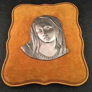 欧洲直邮  欧洲百年手工圣母锡刻画
