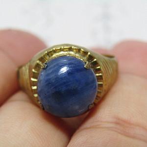 回流 斯里兰卡蓝宝石 戒面戒指 终身保真