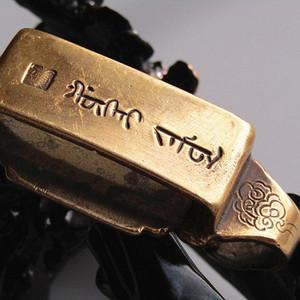带款 铜带刀钩 手工斩刻 包浆老厚