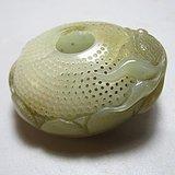 和田玉 镂空透雕 金鱼满堂 工艺非常不错