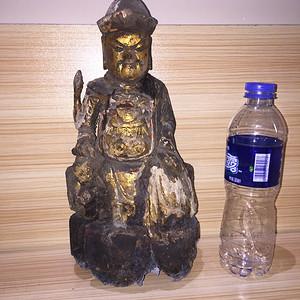 清代 木雕财神
