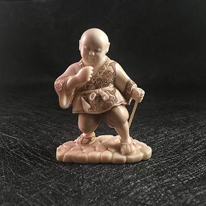国内现货  天然材质日本雕小孩