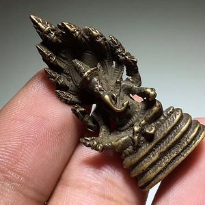 晚清 藏传 象鼻财神 铜像 嘎乌盒内供奉 手工雕刻 保浆老厚