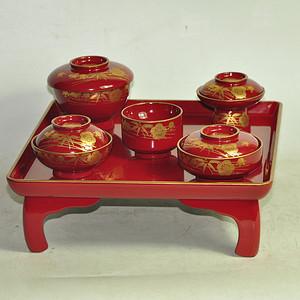 日本漆器餐具一套