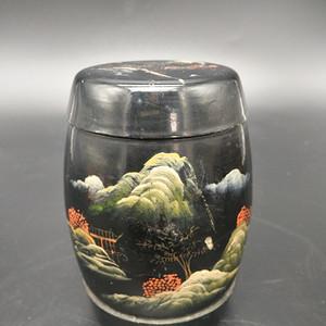 漆器茶叶罐