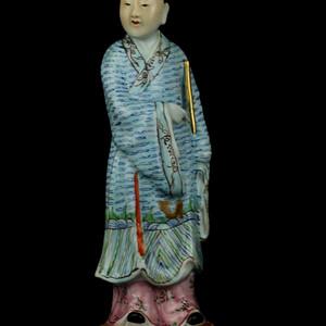 6民国粉彩八仙人物瓷塑