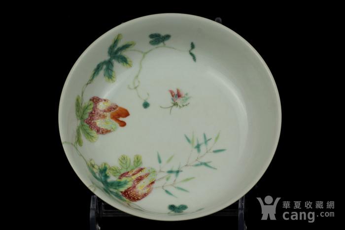 33清同治粉彩瓜瓞绵绵纹敦式碗图2