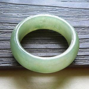 缅甸天然A货翡翠老坑种完美满绿色好种招财戒指