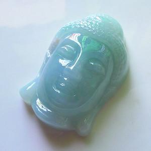 缅甸天然A货翡翠老坑种完美满绿色好种招财佛祖吊坠