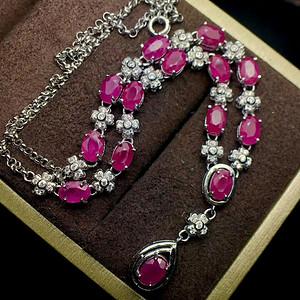 天然缅甸红宝石项链 假一赔万 即拍即得