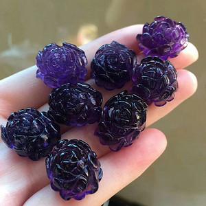 天然紫水晶吊坠花 假一赔万