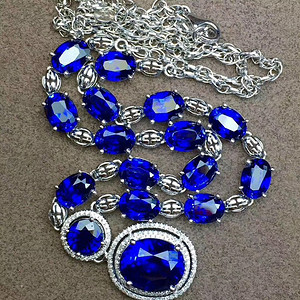 天然斯里兰卡蓝宝石项链 送国检证书