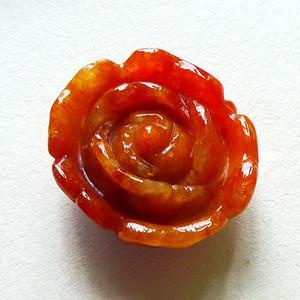 缅甸天然A货翡翠老坑种满色红翡高档招财花开富贵吊坠