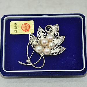 10.7克日本镶珍珠胸针