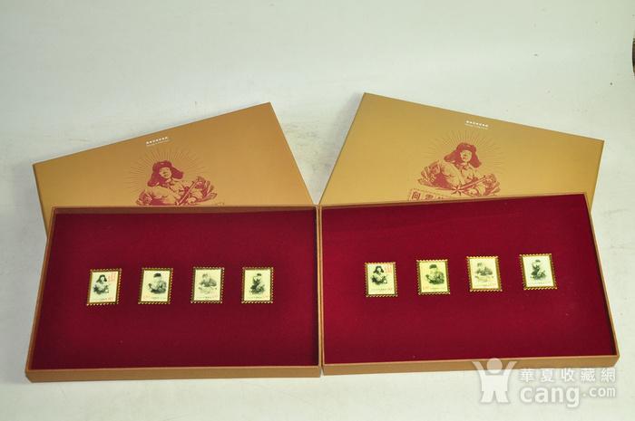 毛主席向雷锋同志学习发表五十周年纪念邮票珍藏两套图2