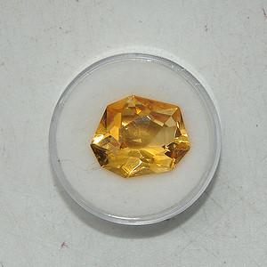 10.5克拉黄水晶戒面