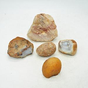 非洲玛瑙原石五块