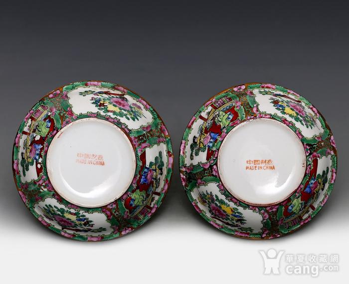 藏淘阁民国外销广彩全品碗一对CN03图6