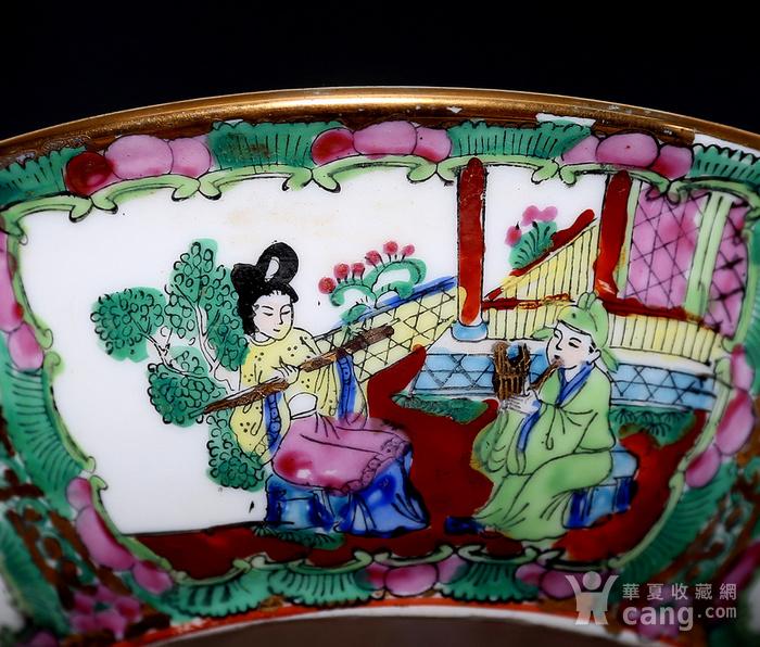 藏淘阁民国外销广彩全品碗一对CN03图11