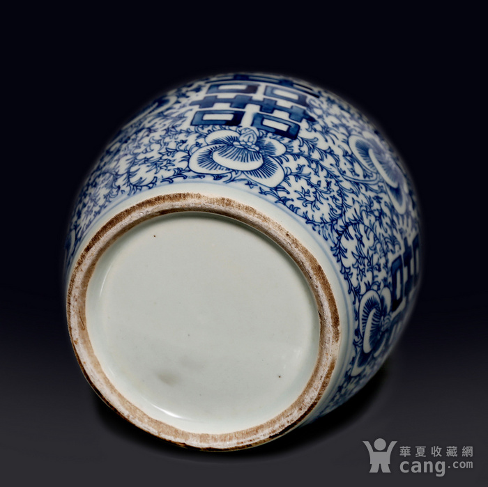 藏淘阁民国双喜青花罐无底价CN04图11