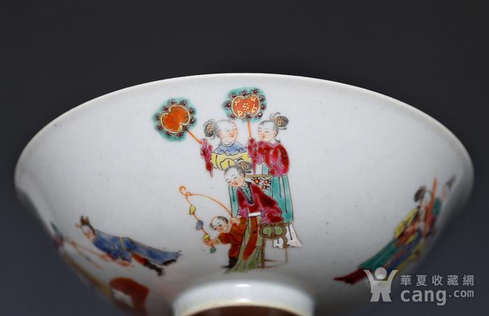 藏淘阁清五彩人物小碗一对美品CN05图7