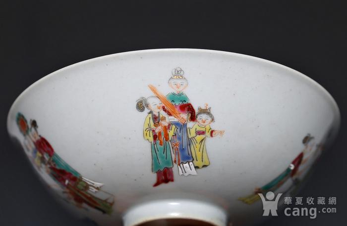 藏淘阁清五彩人物小碗一对美品CN05图8