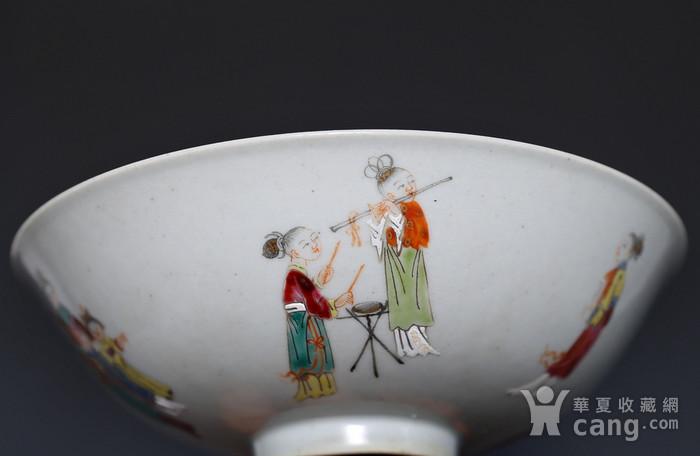 藏淘阁清五彩人物小碗一对美品CN05图9