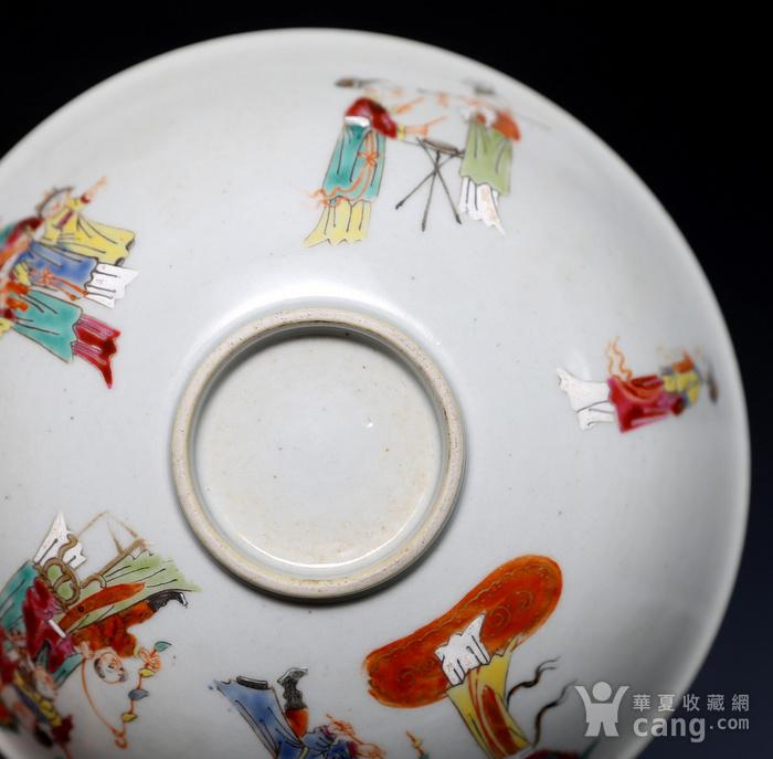 藏淘阁清五彩人物小碗一对美品CN05图11