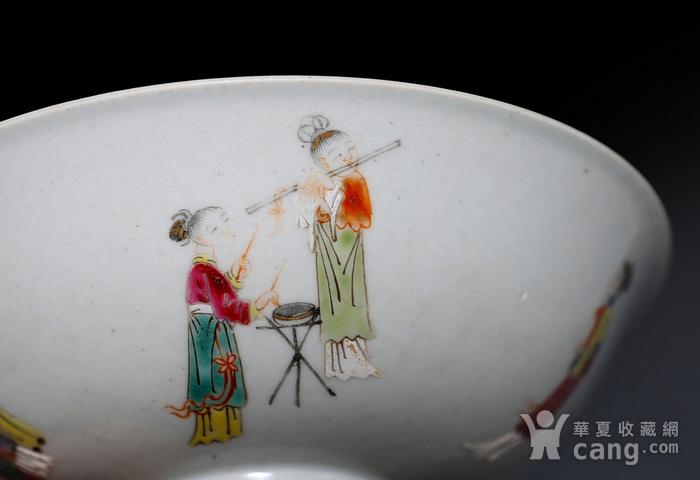 藏淘阁清五彩人物小碗一对美品CN05图10