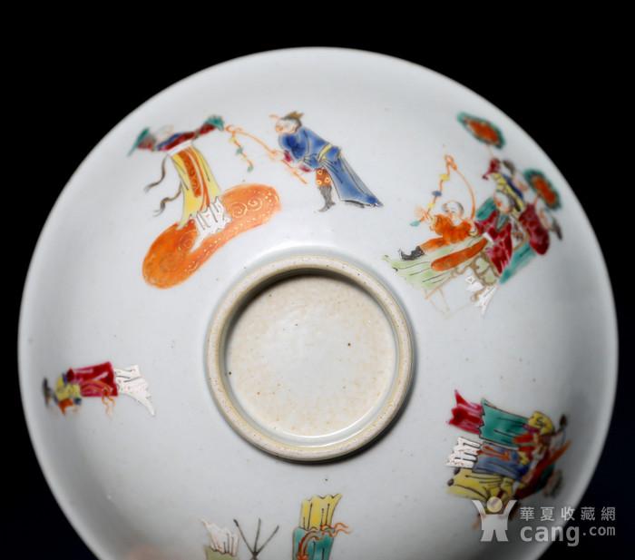 藏淘阁清五彩人物小碗一对美品CN05图12