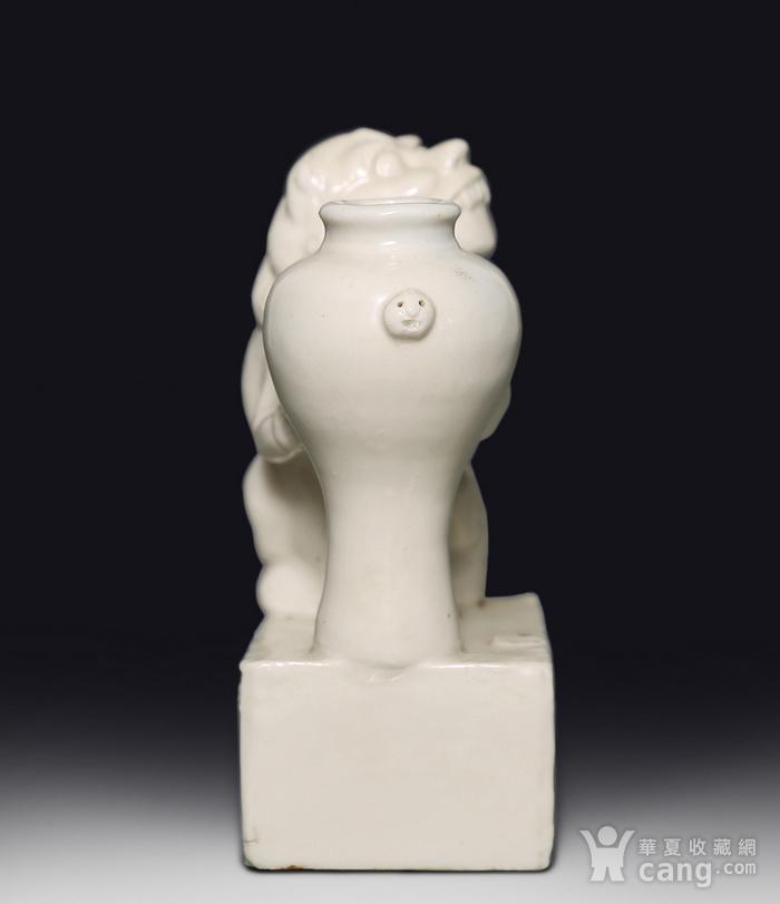藏淘阁清代时期德化窑狮子油灯专家已经鉴定CN06图4