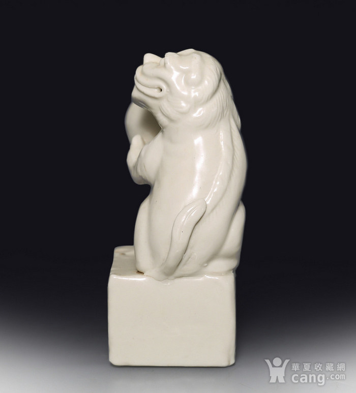 藏淘阁清代时期德化窑狮子油灯专家已经鉴定CN06图6