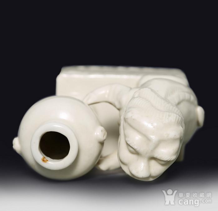 藏淘阁清代时期德化窑狮子油灯专家已经鉴定CN06图7